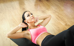 Fitness exercises with  ball Royalty Free Stock Photos