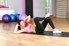 Fitness exercises with  ball Royalty Free Stock Images