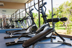 Fitness Facilities with views of nature. Fitness Facilities with views of a nature royalty free stock image