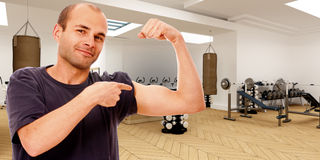 Fitness fan Royalty Free Stock Images