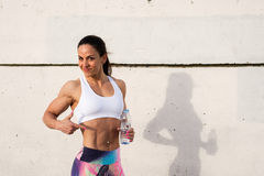 Fitness fat burning workout success Royalty Free Stock Photo