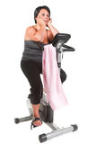 Fitness for fat woman Stock Images