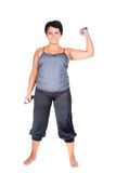 Fitness for fat woman Royalty Free Stock Photography