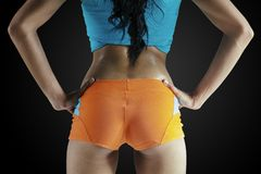 Fitness female buttocks. Beauty and sexy buttocks of fitness woman Stock Photography