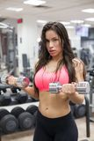 Fitness-Female Lifting Weights Royalty Free Stock Images
