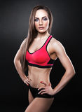 Fitness female looking at camera Royalty Free Stock Images