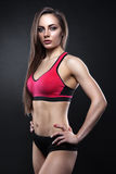 Fitness female looking at camera stock photography