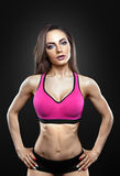 Fitness female looking at camera royalty free stock photo