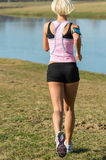 Fitness Female Running Outdoors Royalty Free Stock Image