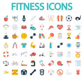 Fitness flat icons with long shadow for your Royalty Free Stock Images