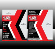 Fitness Flyer Template Stock Images
