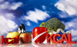 Fitness Food and blue sky Stock Image