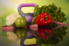 Fitness Food, diet, Vegetable composition Royalty Free Stock Photo