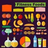 Fitness foods. stock illustration
