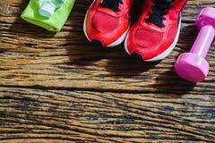 Fitness, gezonde en actieve van de levensstijlenminnaar Concept, rode sport Royalty-vrije Stock Afbeeldingen