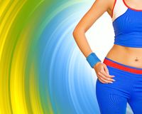 Fitness gir's body Stock Photos