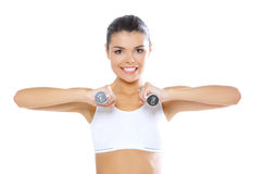 Fitness girl stock photos
