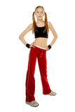 Fitness for girl Royalty Free Stock Photo