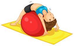 Fitness girl. Illustration of fitness girl exercising Royalty Free Stock Photo