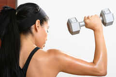 Fitness Girl. Beautiful  girl working out in a gym Stock Photography