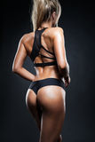 Fitness girl back Stock Photos