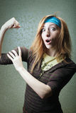 Fitness girl with biceps Stock Photography