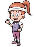 Fitness girl cartoon Stock Photos
