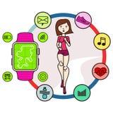 Fitness girl 02.cdr Stock Photos
