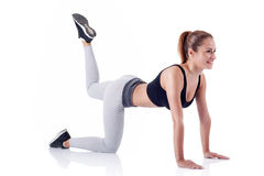 Fitness girl doing exercise Royalty Free Stock Images