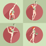 Fitness. Girl doing exercises. With a ball Stock Image