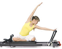 Fitness girl doing pilates Stock Photo