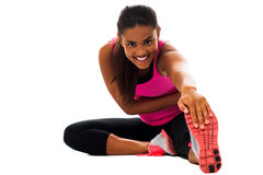 Fitness girl doing stretching exercise Royalty Free Stock Photo