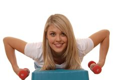 Fitness Girl Eight Royalty Free Stock Image
