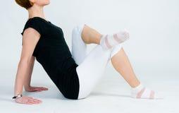 Fitness girl exercising Stock Photos