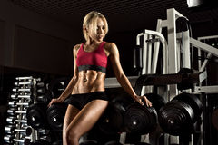 Fitness girl in gym Stock Photo