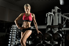Fitness girl in gym Royalty Free Stock Image