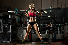 Fitness girl in gym Royalty Free Stock Photos