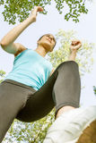 Fitness girl jogging Stock Photo
