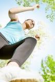 Fitness girl jogging Stock Image