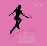 Fitness girl label Stock Photos
