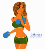 Fitness girl label Royalty Free Stock Images