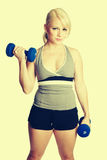 Fitness Girl Lifting Weights Stock Images