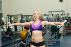 Dumbbell exercise Royalty Free Stock Photography
