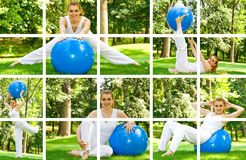 Fitness girl outdoor Stock Images