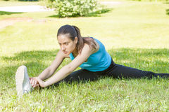 Fitness Girl Outdoor Stock Photography