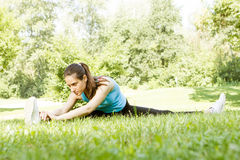 Fitness Girl Outdoor Royalty Free Stock Photo