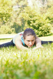 Fitness Girl Outdoor Stock Image