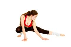 Fitness girl over white Royalty Free Stock Photo