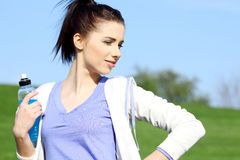 Fitness girl in park. Stock Images