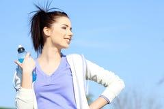 Fitness girl in park. Stock Photo